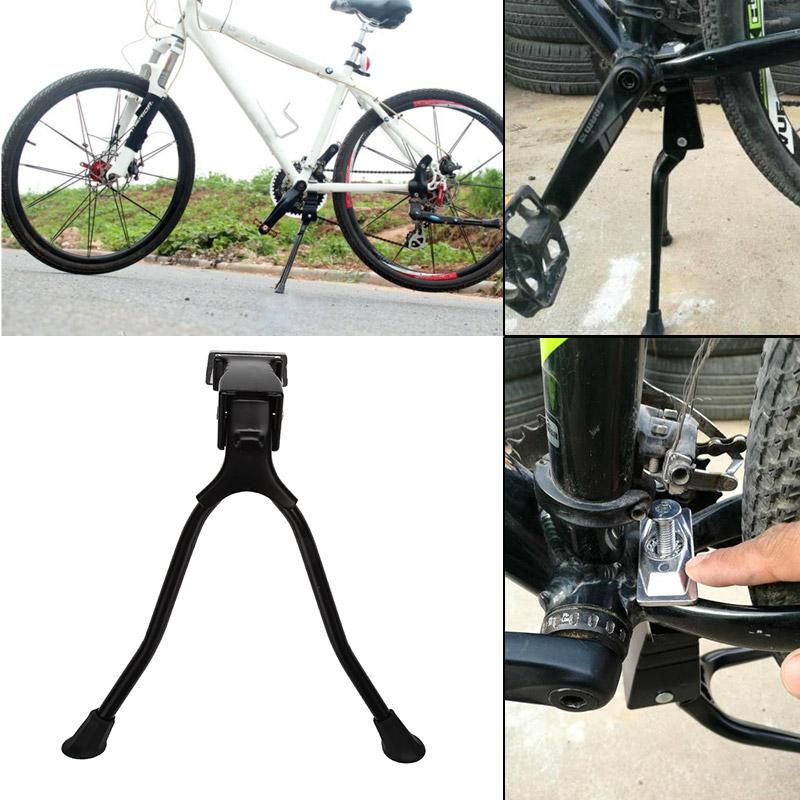 "ABLEWIPE Center Mount Bicycle Kickstand Adjustable Aluminum fits 26/""-29/"""
