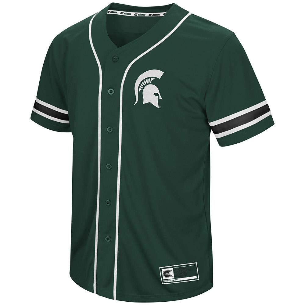 Mens Michigan State Spartans Baseball Jersey - S