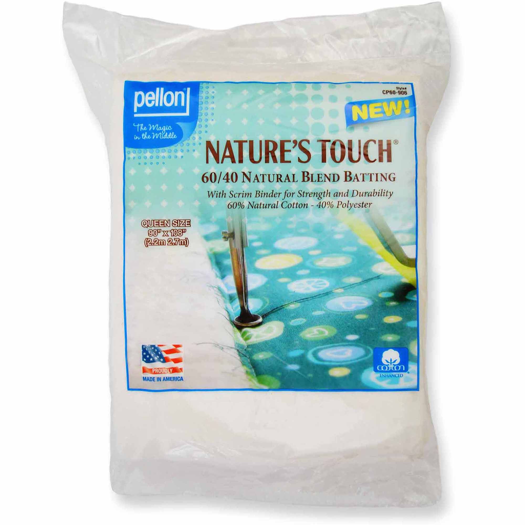 Pellon Nature's Touch 60/40 Batting with Scrim