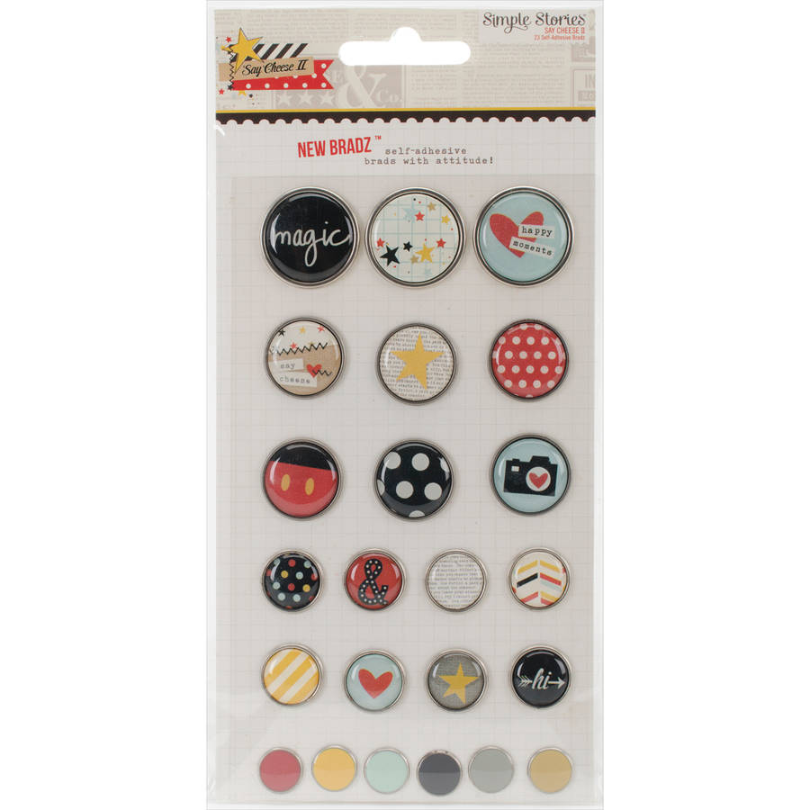 Say Cheese II Self-Adhesive Bradz 23/Pkg-