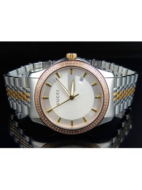 48c413bbc4d Product Image Mens G-Timeless Two Tone 38 MM Diamond Watch (1.50 Ct). Gucci