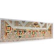 Mogul Festive Table Runner Sari Patchwork Handmade Beaded Wall Tapestry 60x20