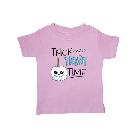 Halloween Trick or Treat Time Skull Faced Candy Apple Baby T-Shirt