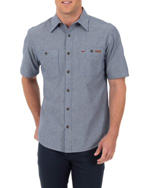 5f0c1e2e97093 Product Image Men s Short Sleeve Button-Down Work Inspired Shirt