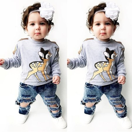 2d839f4e2bdc Emmababy - Toddler Kid Baby Boy Girl Long Sleeve Deer Tops Sweater T ...