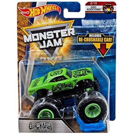 Monkey Cat (hot wheels 2018 monster jam epic additions 2/15 - gas monkey garage (includes re-crushIle)