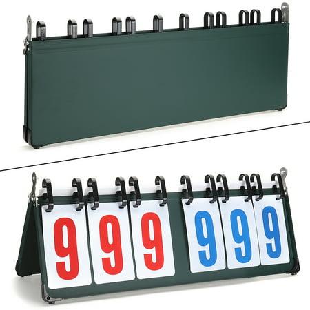Portable Flip Scoreboard Tabletop Sports Basketball Scorer Tennis Game - Tabletop Basketball