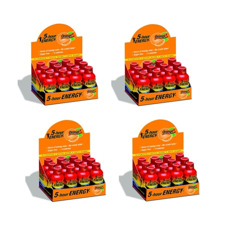 5 HOUR ENERGY Tir Orange- 48 Paquet de 2 bouteilles Ounce