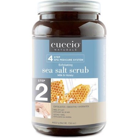 Milky Salt (Cuccio Exfoliating Sea Salt Scrub Milk & Honey 156 oz )