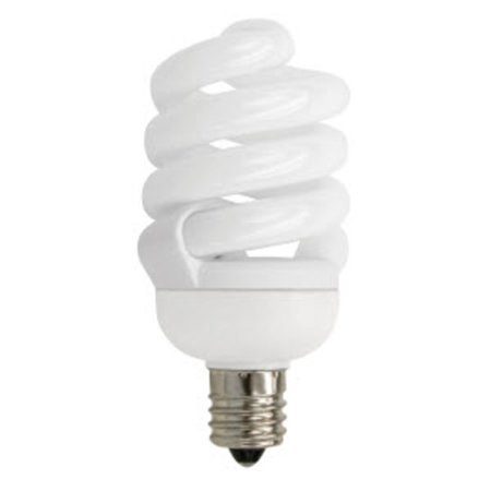 TCP 48913C50K Single 13 Watt Frosted T2 Candelabra (E12) Compact Fluorescent Bulb - 5000K