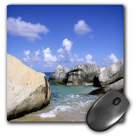 3dRose Boulders, Beach, Virgin Gorda, British Virgin Islands-CA10 BBA0014 - Bill Bachmann, Mouse Pad, 8 by 8 inches