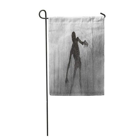 SIDONKU Demon 3D of Scary Monster Out from The Wood Fog Halloween Render Abandon Anger D Garden Flag Decorative Flag House Banner 12x18 - Scary Halloween Monsters