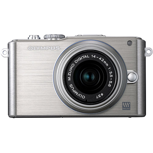 Olympus PEN E-PL3 14-42mm 12.3 MP Mirrorless Digital Camera with CMOS Sensor and 3x Optical Zoom (Silver) (Old Model)
