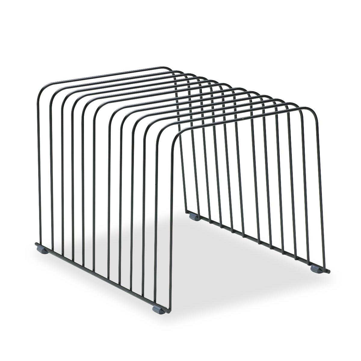 Fellowes Wire Desktop Organizer, 11 Comp, Steel, 9 x 11 3/8 x 8, Black -FEL72112