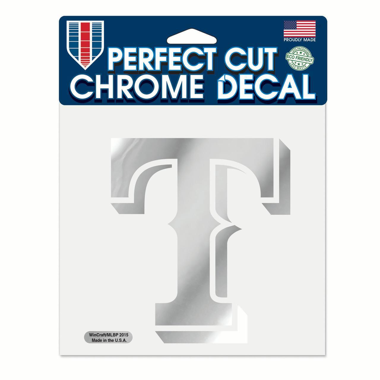 "Texas Rangers WinCraft 6"" x 6"" Chrome Decal - No Size"