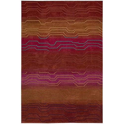Nourison Contour Striation Contemporary Decorative Rug