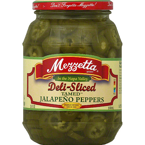 Mezzetta Deli-Sliced Tamed Jalapeno Peppers, 32 fl oz, (Pack of 6)