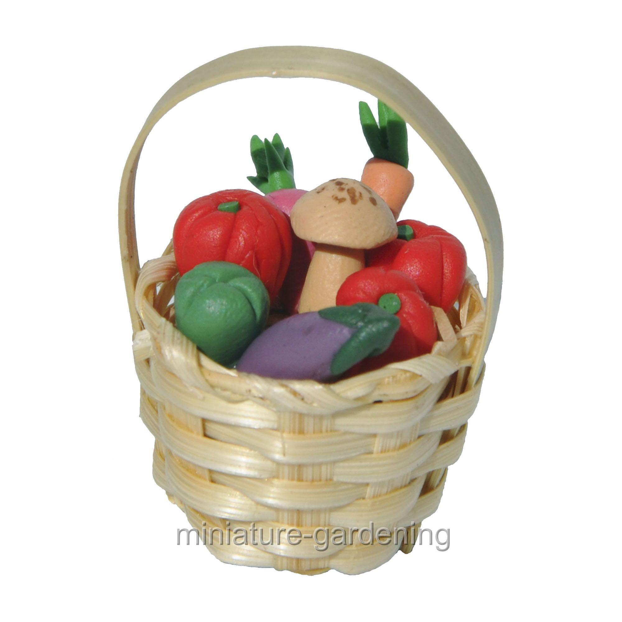 10  Mini Wicker Baskets Fruit Vegetable Craft Picnic Miniatures Food /& Groceries