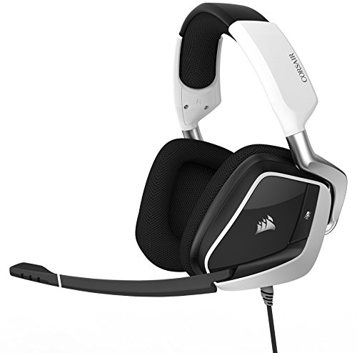 Corsair Void Pro RGB USB Gaming Headset - Dolby 7.1 Surround Sound Headphones for PC - Discord Certified - 50mm Drivers - White - image 1 de 1