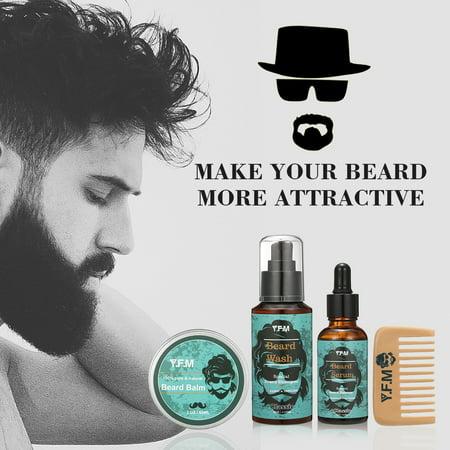 Beard Care, Beard Care Kit Great for Dry or Wet Beards, Beard Kit Includes: Beard Shampoo + Beard Oil + Beard Balm + Beard Comb, Beard Gift Set for Men-Dad's Best