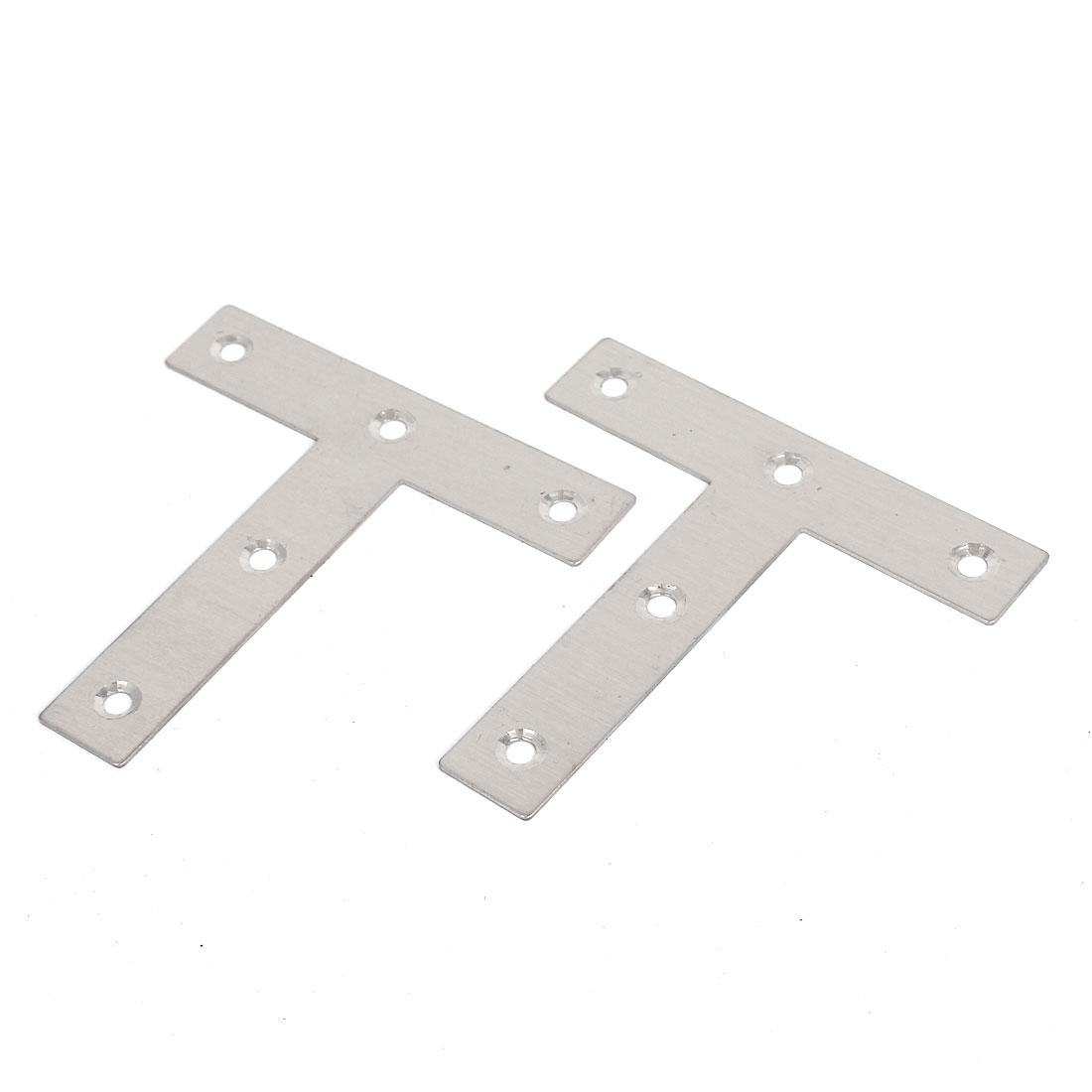 4 Pièces 80mmx80mmx16mm métal en forme de T de la plaque de renfort de coin télévision Crochets - image 1 de 1