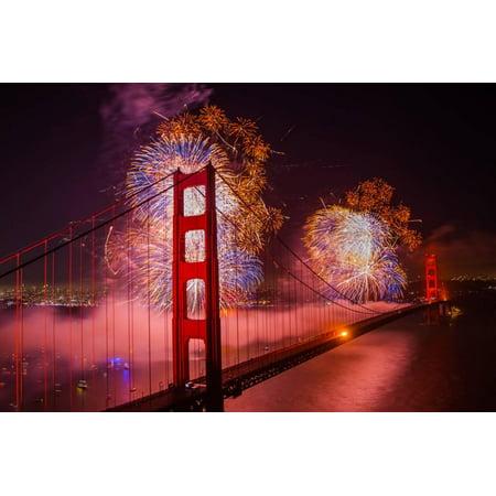 golden gate bridge fireworks