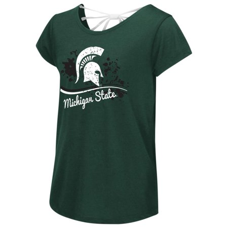 Michigan State University Youth Girls Bow Back Short Sleeve - Michigan State University Halloween Party