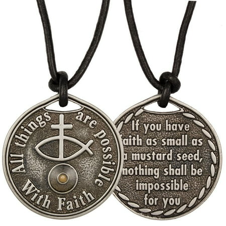 Mustard Seed Coin Necklace Faith All Thing Possible](Mustard Seed Necklace)