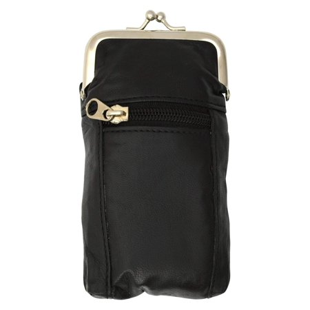 New Design Genuine Leather Cigarette Case and Zipped Lighter Pouch 9903AL