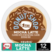 The Original Donut Shop Mocha Latte, Single Serve Coffee K-Cup Pod, Flavored Coffee, 12 Count