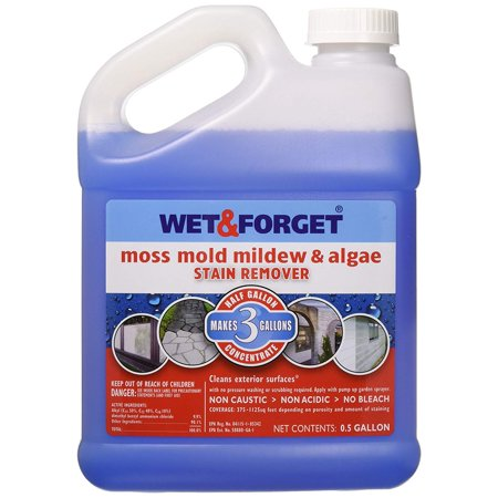 Wet and Forget 800003 Wet And Forget Moss Mold Mildew & Algae Stain Remover, Gentle Spray & Leave Cleaner, No Scrubbing, Rinsing or Power Washing By WET FORGET