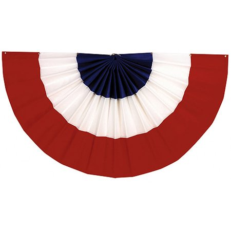 Amscan Stars & Stripes Fourth of July Party Large Bunting Banner Decoration, Multi Color, 48 x 24 (Star Wars Party Banner)
