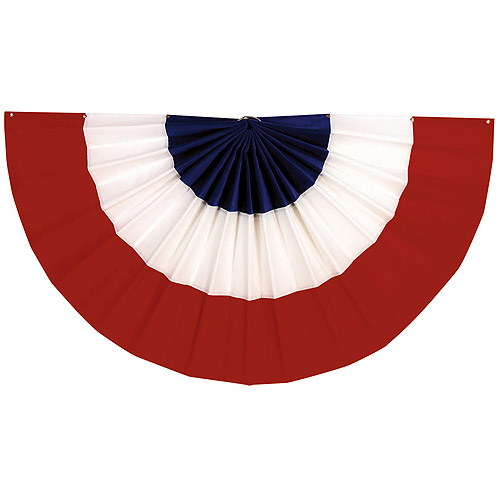 Amscan Stars & Stripes Fourth of July Party Large Bunting Banner Decoration, Multi Color, 48 x 24