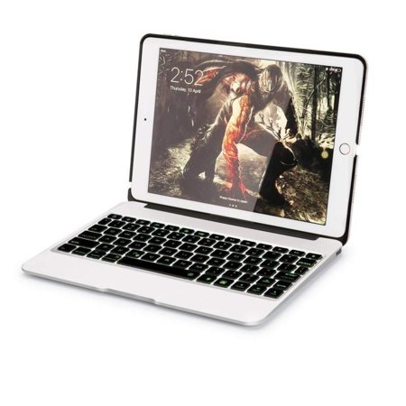 9.7 inch Bluetooth Wireless Keyboard Aluminum Slim Portable Case Cover For iPad Air 2 A1566 / Pro 9.7 A1675 US STOCK