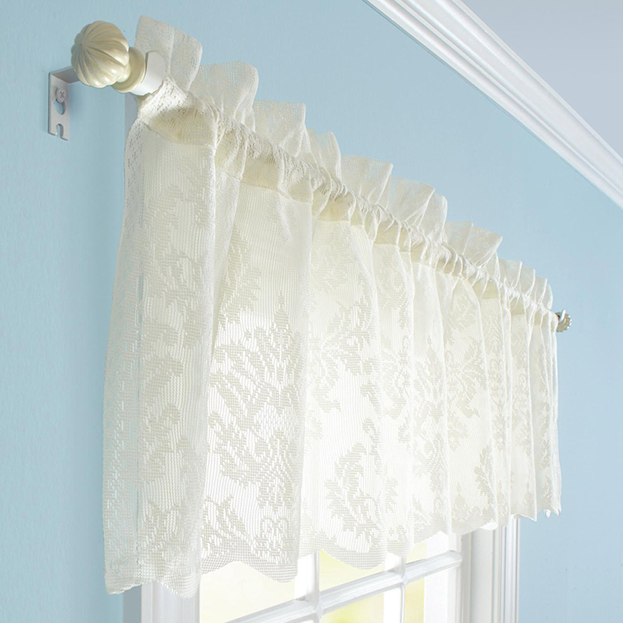 Better Homes and Gardens Cream Lace Valance or Tier Walmartcom