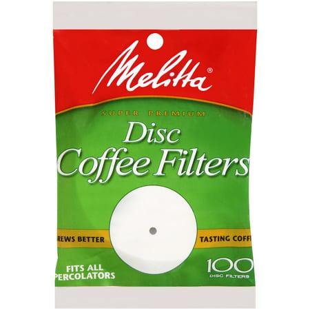 "melitta 3.5"" disc coffee filters, 100 ct - walmart.com"