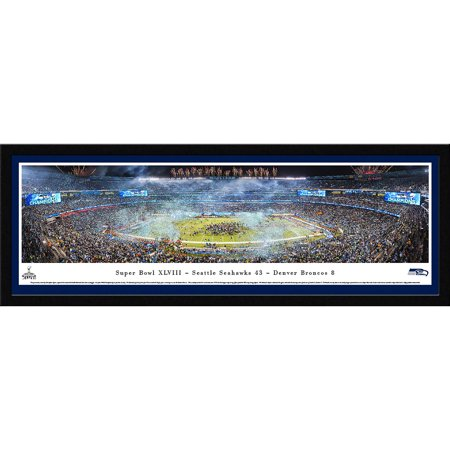 Super Bowl 2014 Seattle Seahawks Champions Blakeway Panoramas NFL Print with Select Frame and Single Mat by