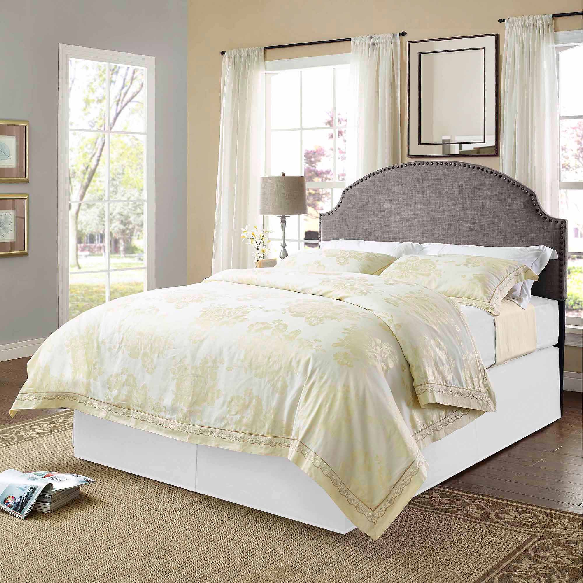 saratoga size upholstered headboard shot trim hollywood parker grey king detail nailhead full glam after diy master bed amazon headboards caifornia of