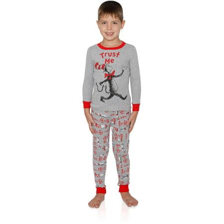 Dr. Seuss Cat in the Hat Trust Me Boys Cotton 2-Pc Pajama Set, Gray, Size: 4](Dr Seuss Baby)