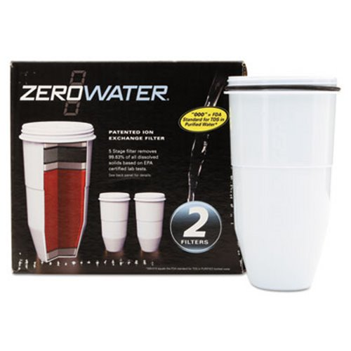 Avanti ZeroWater Replacement Filtering Bottle Filter, 2/Pack (AVAZR017)