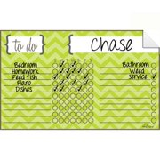 AlaBoard Chevron Green Dry Erase Chore Chart Decal