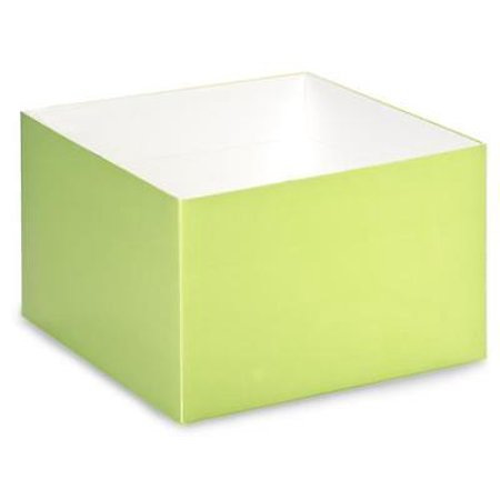 "1 Unit 8x8x5"" Matte Pistachio Box Bases Unit pack 25"