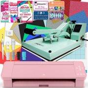 "Silhouette Blush Pink Cameo 4 Heat Press T-Shirt Bundle w/ Mint 15"" x 15"" Heat Press"