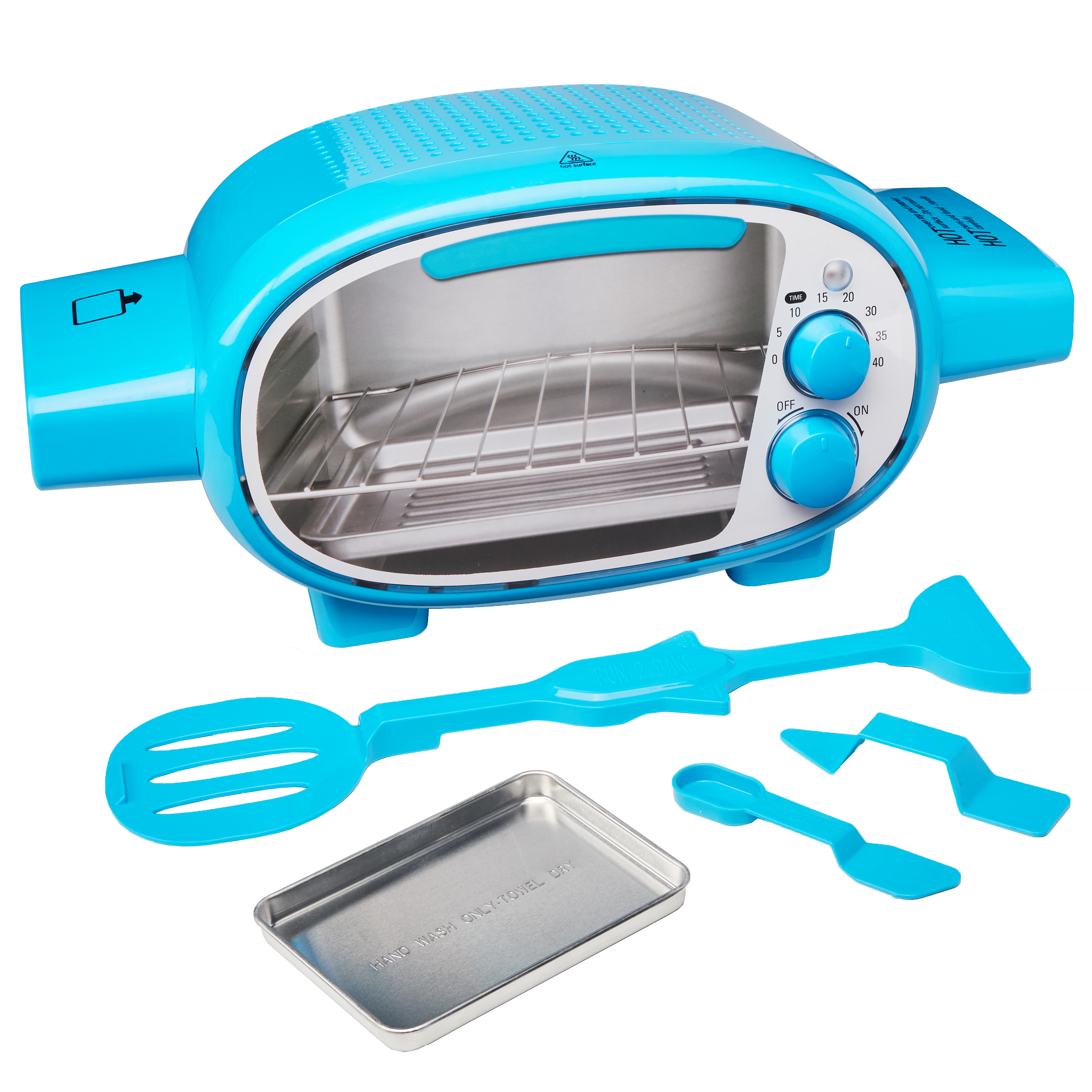 Fun 2 bake blue and purple working toy oven with on & off switch & pretend oven window