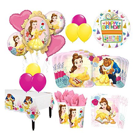 The Ultimate 8 Guest 53pc Beauty and The Beast Birthday Party - Garfield Party Supplies