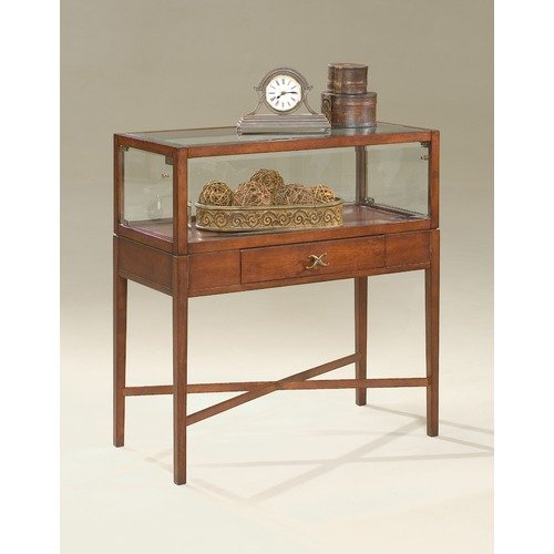 Butler Plantation Cherry Large Curio Console Table