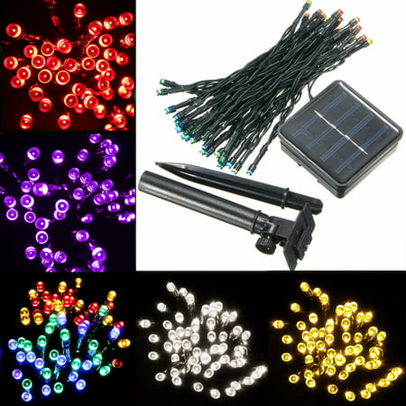 Grtsunsea 17ft 50 LED Solar Power String Fairy Lights for Party Xmas Outdoor Garden Tree Christmas Decoration