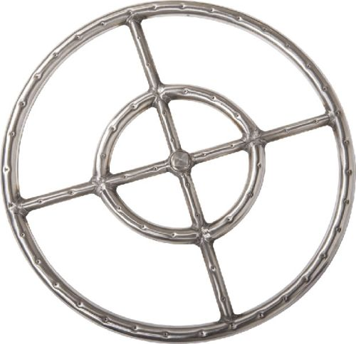 304 Stainless Steel Fire Ring with 3/4 inch Tubing - 18 inch