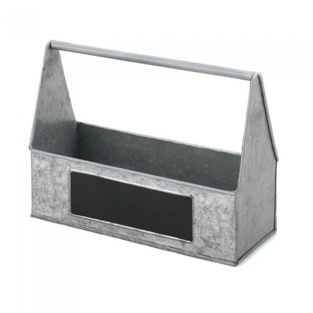 Accent Plus Galvanized Metal Picnic Caddy