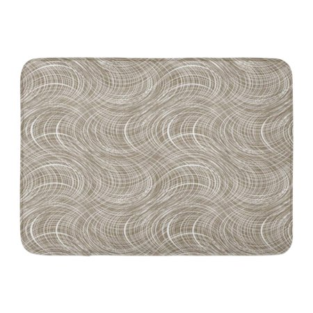 YUSDECOR Sack Gray Jute Canvas Wave White on Brown Beige Abstract Burlap Rug Doormat Bath Mat 23.6x15.7 inch - image 1 of 1
